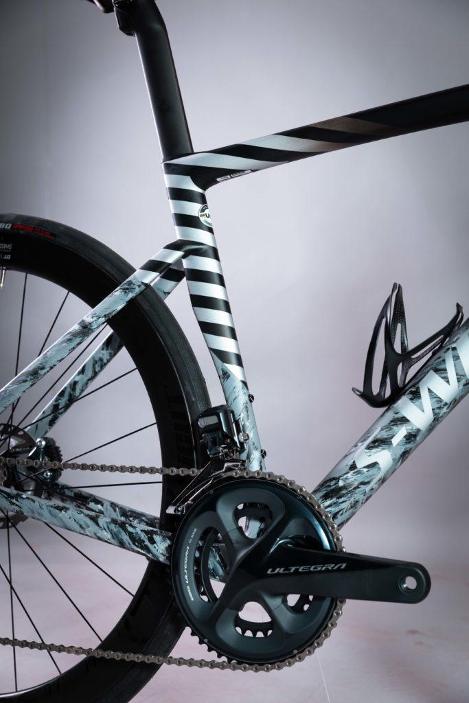 BikeBox Custom Specialized Tarmac SL7 dove grey rahmen, kurbel