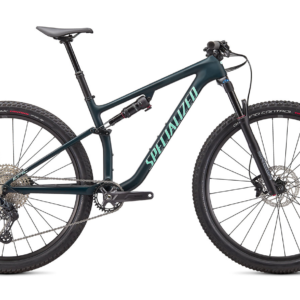 Specialized Epic Evo 2021 Frontansicht in der Farbe Satin Forest Green / Oasis