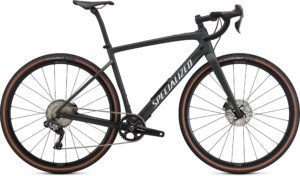 Specialized Diverge Expert Carbon 2021 Frontansicht in der Farbe Satin Oak Green Metallic/Gloss White/Chrome/Clean