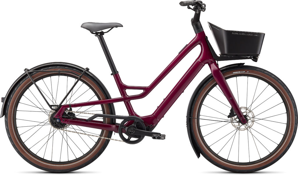 Specialized Turbo Como SL 4.0 2022 Frontansicht in der Farbe Raspberry / Transparent